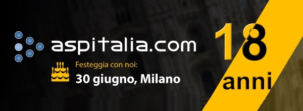 il web del futuro con i nostri 18 anni il 30/06 a Milano. #aspnetcore, #angular2, #azure, #javascript https://aspit.co/18anni