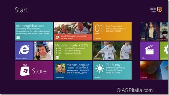 La nuova UI di Windows 8